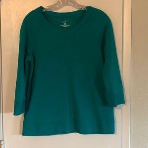 Sonoma  sz PM  green 3/4 sleeve sweatshirt